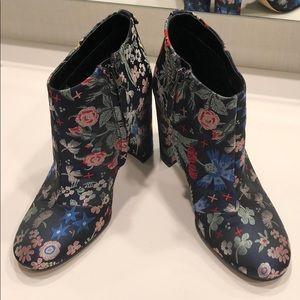 Sam Edelman floral brocade ankle boots